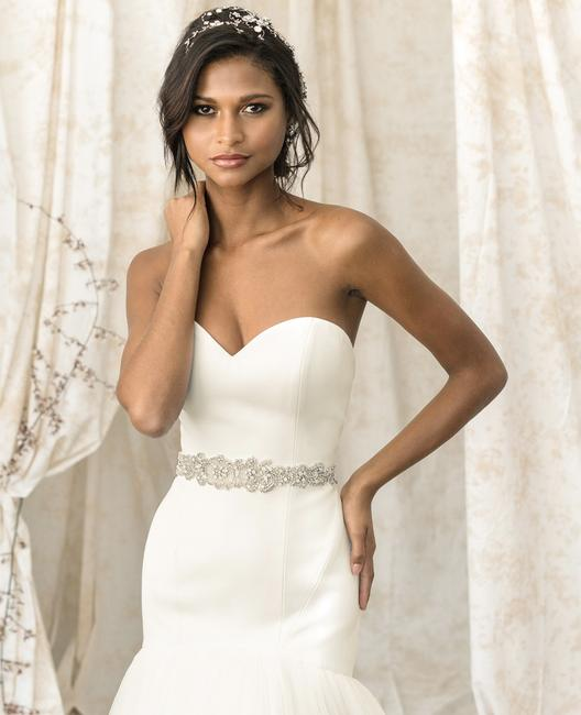 Item - Ivory/Silver Satin & Tulle 9903 Sexy Wedding Dress Size 4 (S)