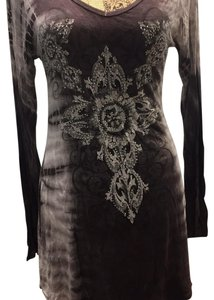 Vocal Top dark brown with silver& cream