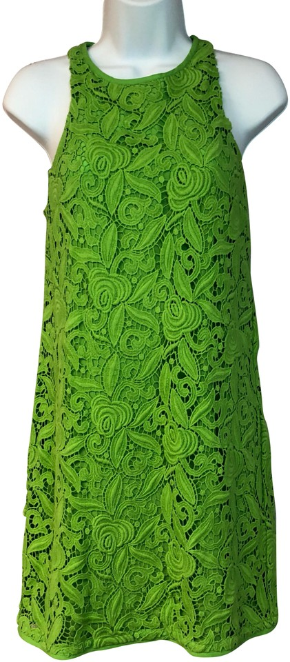 Juicy Couture Green Guipure Lace Cotton Short Casual Dress Size 0 Xs 87 Off Retail