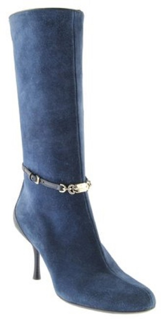 Item - Blue Suede Boots/Booties Size US 7 Regular (M, B)