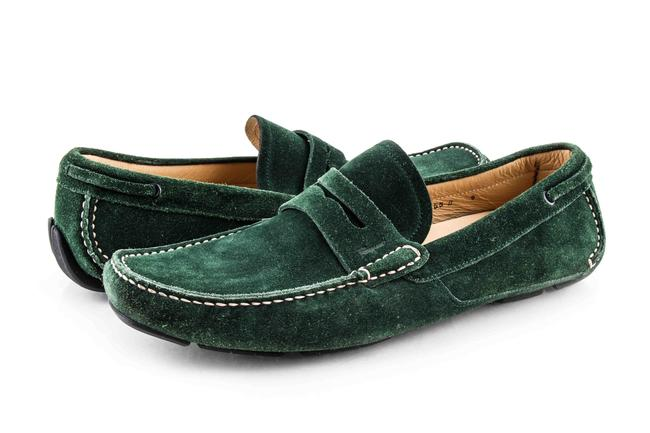 Item - Green Men's Emerald Suede Driving Loafer Shoes