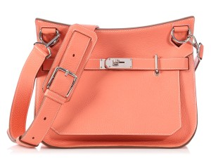 Hermès Coral Orange Hr.p0906.17 Palladium Cross Body Bag