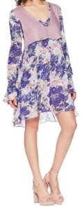 Free People short dress floral, purples/blues on Tradesy