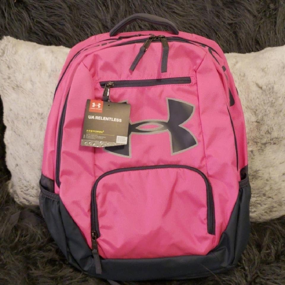 Under Armour 96510 Pink   Grey Polyester Backpack - Tradesy 11f50380555a1