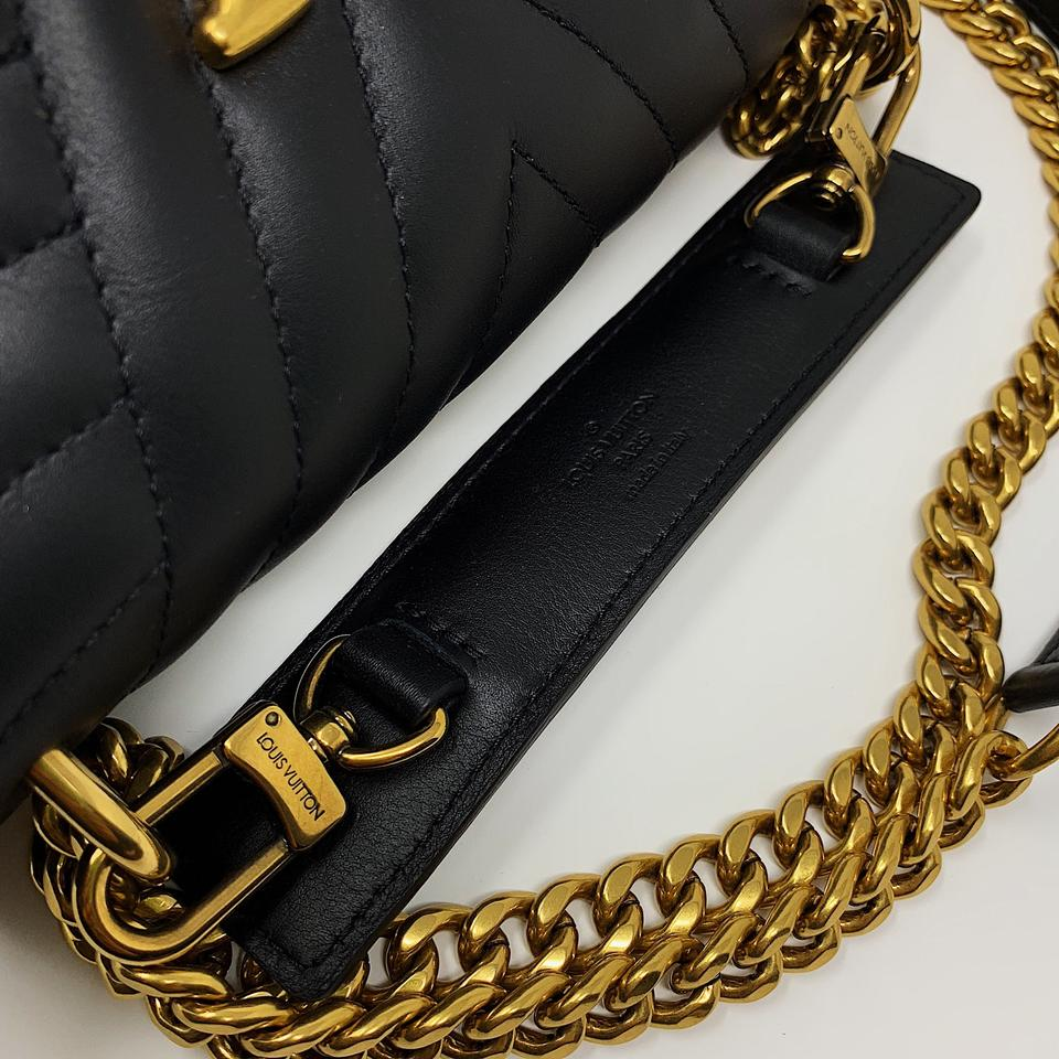 cdb3ead2b430 Louis Vuitton New Wave Chain Pm Black Calfskin Cross Body Bag - Tradesy