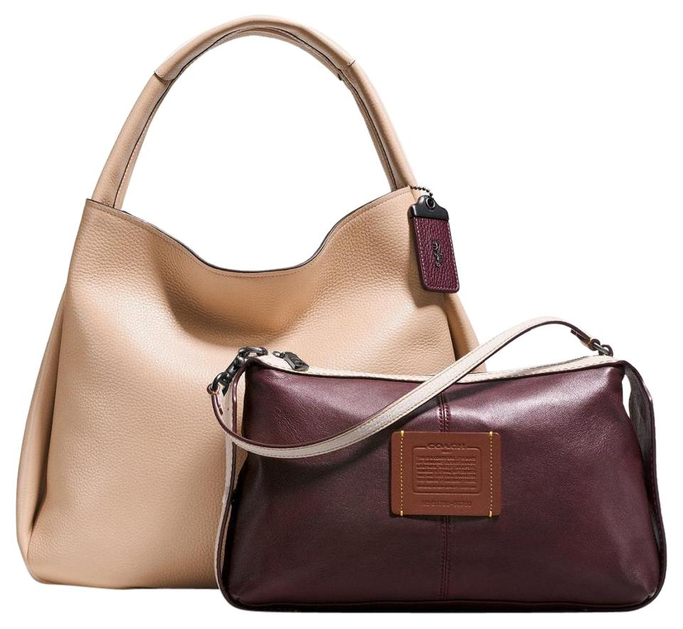 5afcfc0840e Coach 1941 Bandit Pebbled W Extra Pouch Beechwood Glove Tanned ...