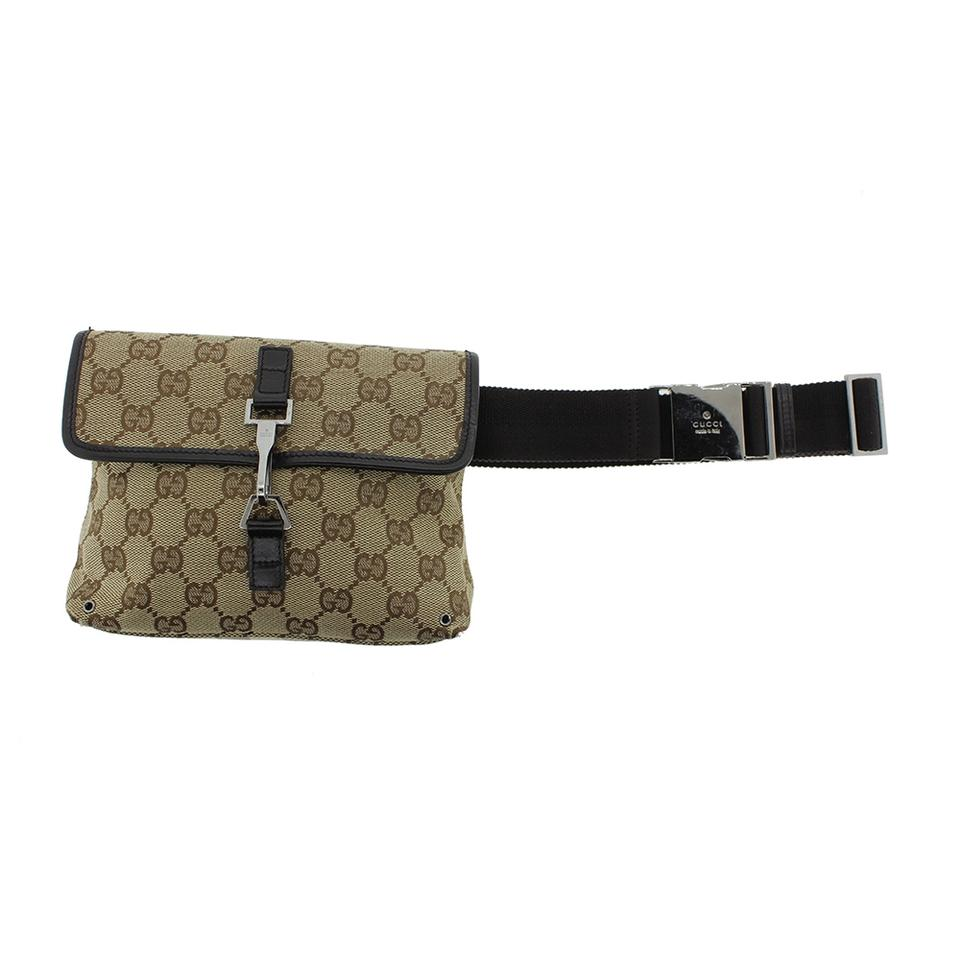 ffcd0a55cda Gucci Authentic GUCCI GG Pattern Bum Bag Waist Bag Brown Canvas Italy Image  0 ...