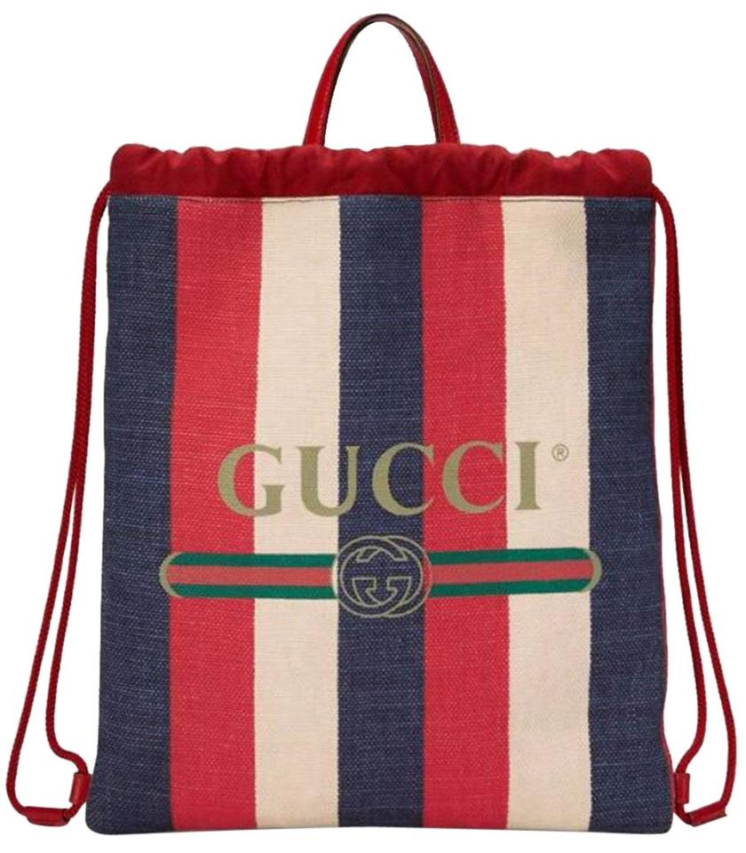 079c86f2e3addc Gucci Printed Logo Stripe Bag Backpack | Stanford Center for ...