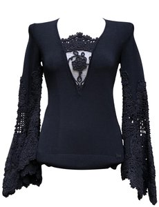 "Chanel Euro Size 40 Armpit To Armpit 17"" Length At Rear 23"" Flamenco Sleeves 26"" Sweater"