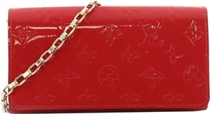 Louis Vuitton Chain Wallet Wallet On Chain Shoulder Wallet Red Clutch