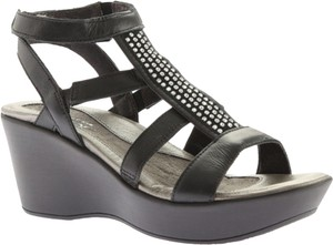 Naot Cage Ankle Mystery Black Sandals