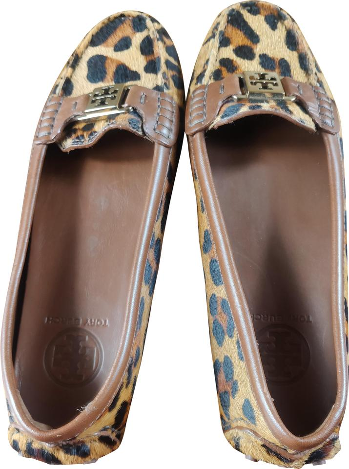 aae44a627625 Tory Burch Like New Leopard Driving Loafers Flats Size US 8.5 ...