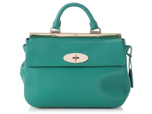 Mulberry Ml.p0221.17 Gold Hardware Emerald Silky Classic Shoulder Bag accce597100b8