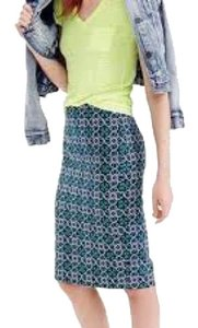 J.Crew Skirt green, navy and pink