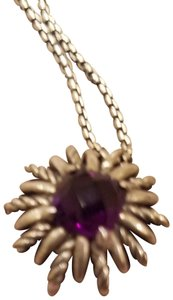 David Yurman Sterling Silver and 7mm Amethyst Starburst
