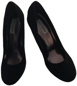 Steve Madden Comfortable Stylish High Heel Black Suede Pumps