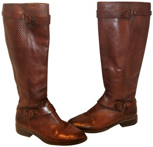 Antonio Melani Designer Leather Riding BROWN Boots