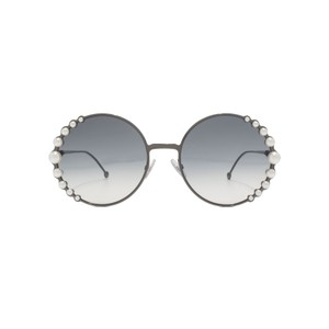 Fendi NEW Fendi 0295/S Ribbons and Pearls Oversized Round Sunglasses