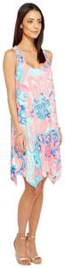 Lilly Pulitzer short dress Im So Jelly Cotton Floral Flowy Racer-back on Tradesy