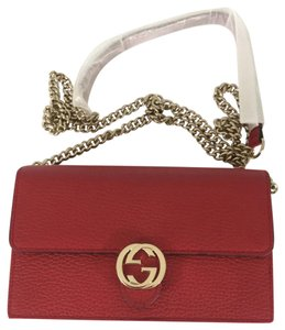 4567eccc9330 Added to Shopping Bag. Gucci Cross Body Bag. Gucci Red Leather Woc ...