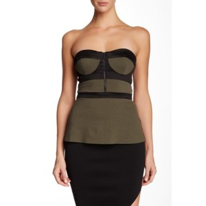 Bec & Bridge Top Olive green and black