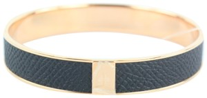 Hermès Black (Rare) Rose Gold and Kawaii 12 H Logo Bangle 9001zh54