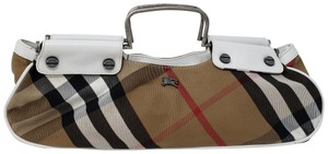 Burberry Brown multicolor canvas Burberry House Check handle bag 47dcbcb52dab8