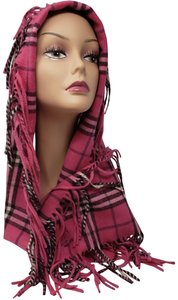 Burberry Pink multicolor cashmere Burberry London Happy cashmere scarf