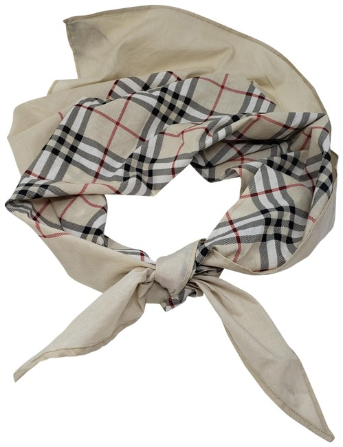 Burberry Beige Black Red London Nova Check Scarf/Wrap Burberry Beige Black Red London Nova Check Scarf/Wrap Image 1