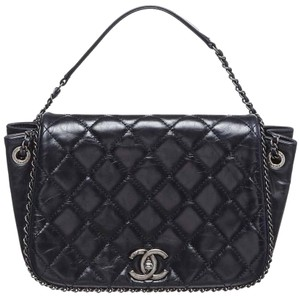 211a0bcd0353 Chanel Cc Logo Enchained Accordion Flap Chain Link Shoulder Bag - closet img