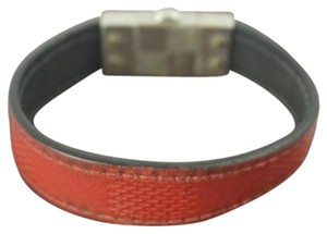 Louis Vuitton Red Reversible Bracelet Damier Infini LVTL128