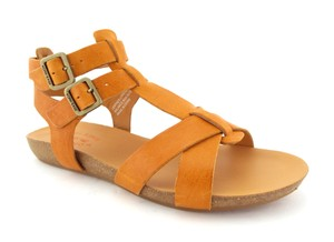 Kork-Ease Orange Cage Caged Doughty Yellow Marigold Sandals