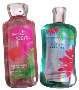 Bath and Body Works Sweet Pea & Pure Paradise Shower Gels Bundle