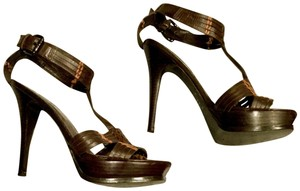 Guess By Marciano Sandals Boho Woven Design Bohemian Brown Platforms
