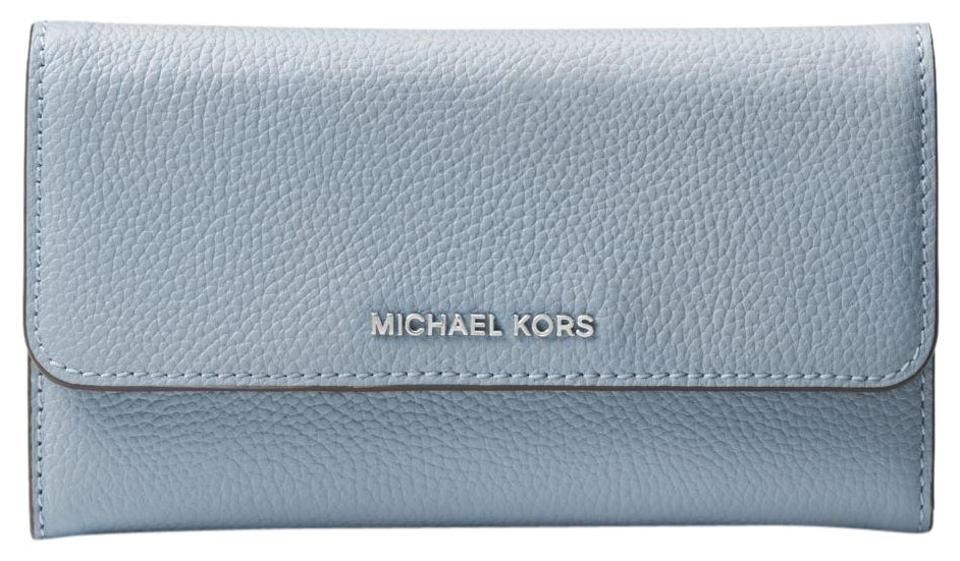 f7250feafff2 Michael Kors Leather Wallet 32h6sm9f3l Wristlet in Pale Blue Image 0 ...