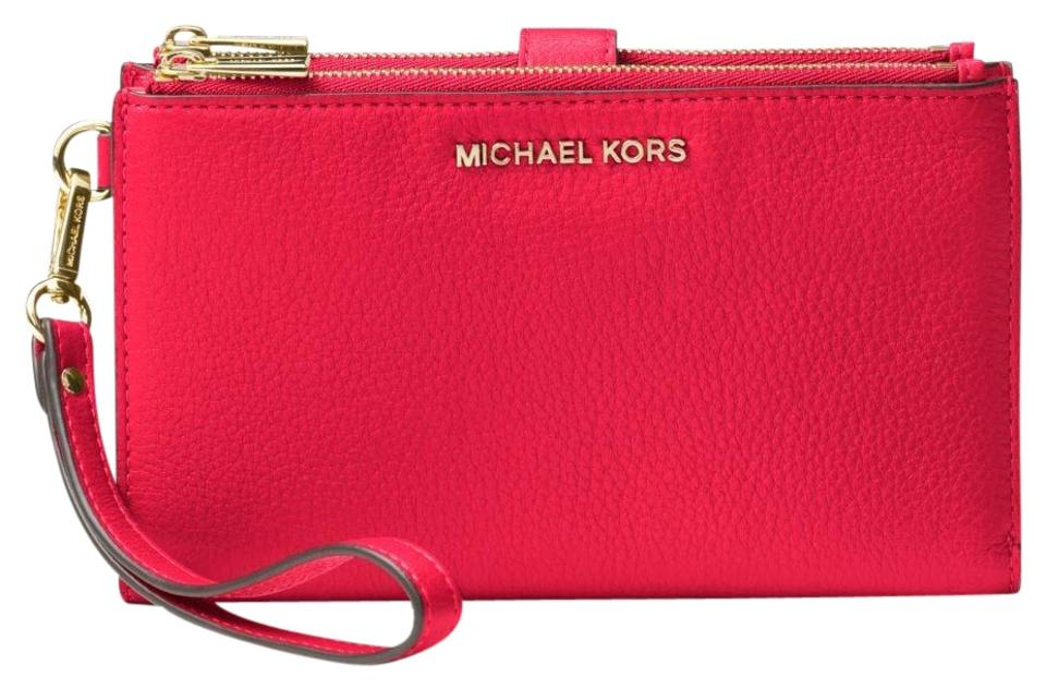 285fd5f47bfe Michael Kors Wallet Leather 32t7gafw4l Wristlet in Deep Pink Image 0 ...