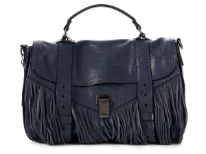 Proenza Schouler Ps.p0905.06 Navy Briefcase Fringed Reduced Price blue Messenger Bag