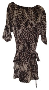 BCBGMAXAZRIA short dress Black Abstract Print Tunic Style Silk Bcbg Max Azria on Tradesy