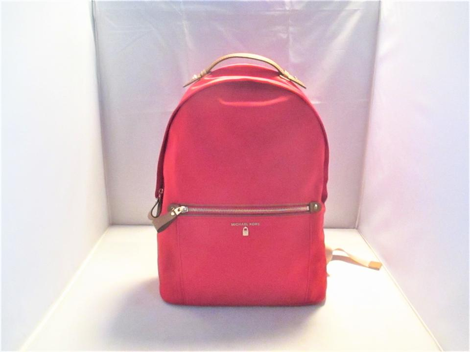 6e1655f9615d Michael Kors Kelsey Large Book Red Nylon Backpack - Tradesy