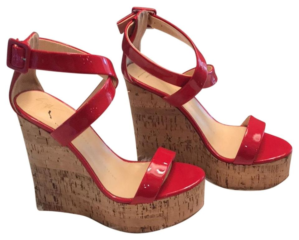 b0ff53114239 Giuseppe Zanotti Red Wedges Size EU 35 (Approx. US 5) Regular (M