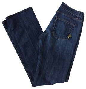 Rich & Skinny Premium Denim Boot Cut Jeans-Dark Rinse