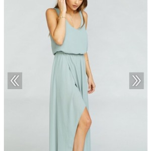 Show Me Your Mumu Silver Sage Kendall Casual Bridesmaid/Mob Dress Size 8 (M)