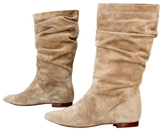 flat suede boot