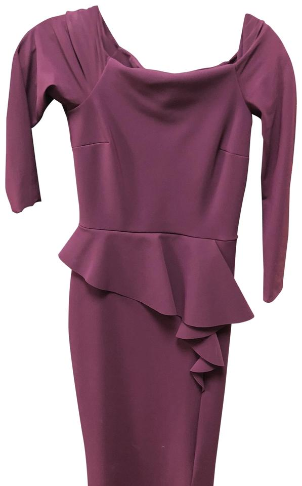 La Petite Robe di Chiara Boni Burgundy Adele Long Formal Dress Size ... 0648ed3cf