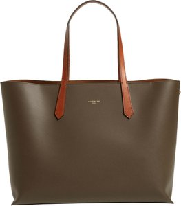 Givenchy Shopper Leather Leather Tote in Grey