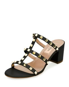Valentino Studded Black Sandals