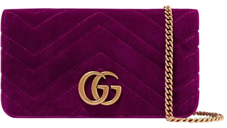 aff91f3e3 Gucci Shoulder Marmont Gg Micro Quilted Textured-leather Fuchsia ...