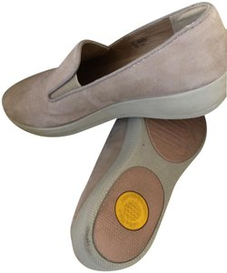FitFlop Leather Superskate Wedge Champagne Mules