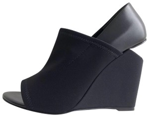 Alexander Wang Rhodium Wedge Peep Neoprene Alla Black Pumps