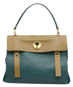 54a8a80e45af5 Saint Laurent Muse Two Muse Paris Medium Green Leather Satchel - Tradesy